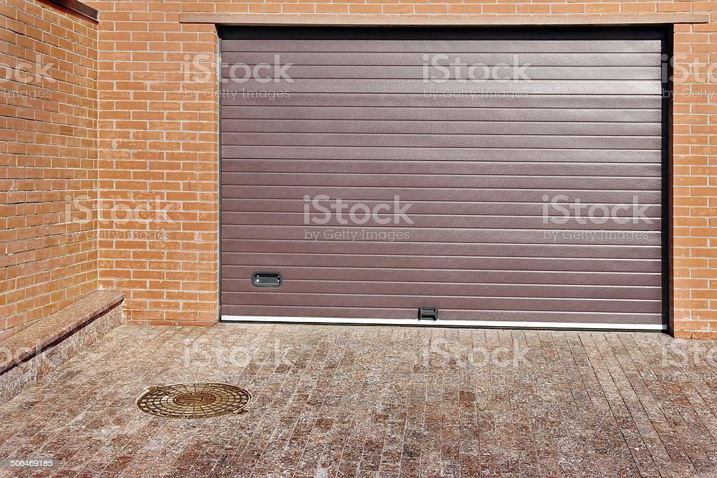 Automatic Garage Gate stock photo