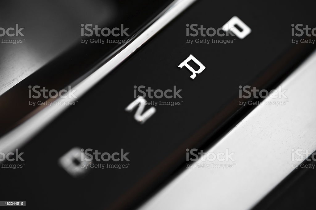 Automatic gear shifter stock photo