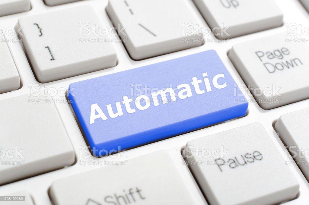 Automatic key on keyboard stock photo