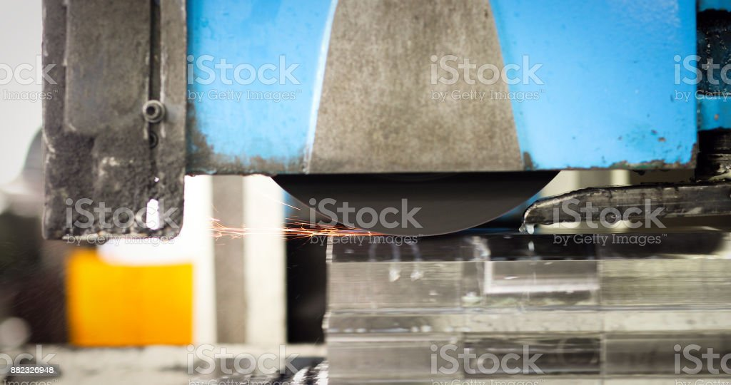CNC Automatic Metal industry machine polishing and processing metal stock photo