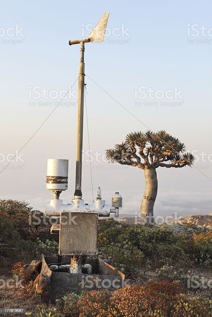 Automatic meteorological observing station royalty-free stock photo