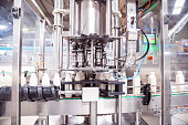 Africa, Industry, Business, Factory, Automatic - Fully Automatic Machine Filling the Fresh Milk in the Bottles