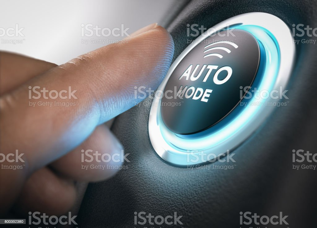 Automatic Mode Engaged royalty-free stock photo