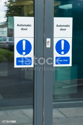 istock Automatic office door 471341969