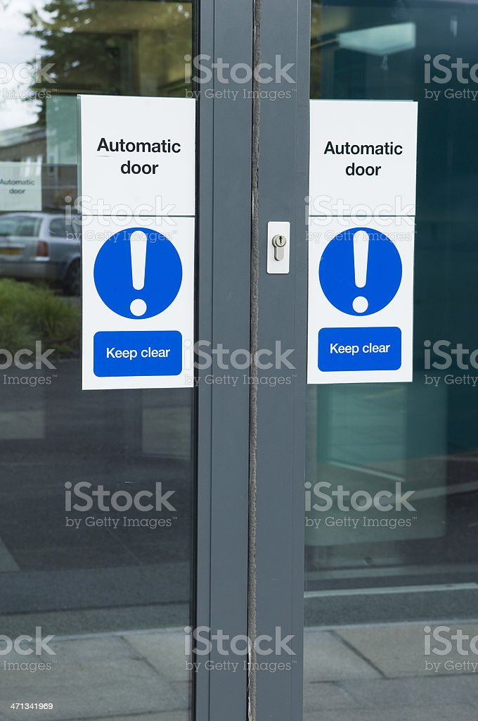 Automatic office door stock photo