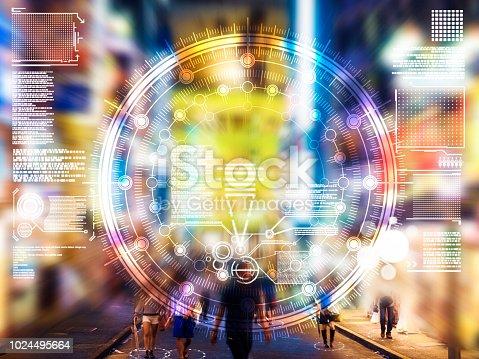 1008204650 istock photo Automatic people city defocused tokyo japan 1024495664