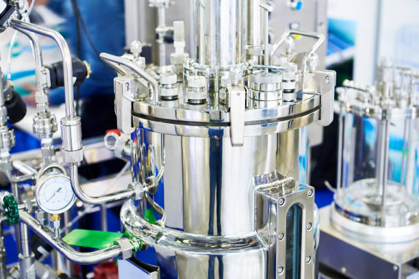 Automatic reactor system stock photo