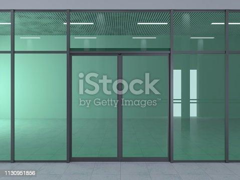 istock Automatic sliding doors 1130951856