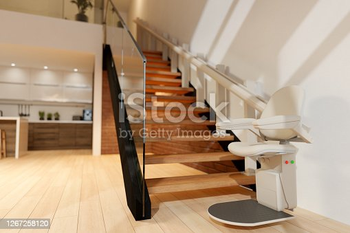 Automatic Stair Lift On Staircase
