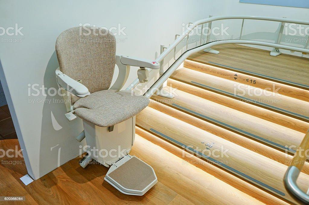 Automatic stair lift. zbiór zdjęć royalty-free