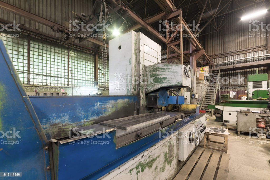 Automatic surface grinding machine stock photo