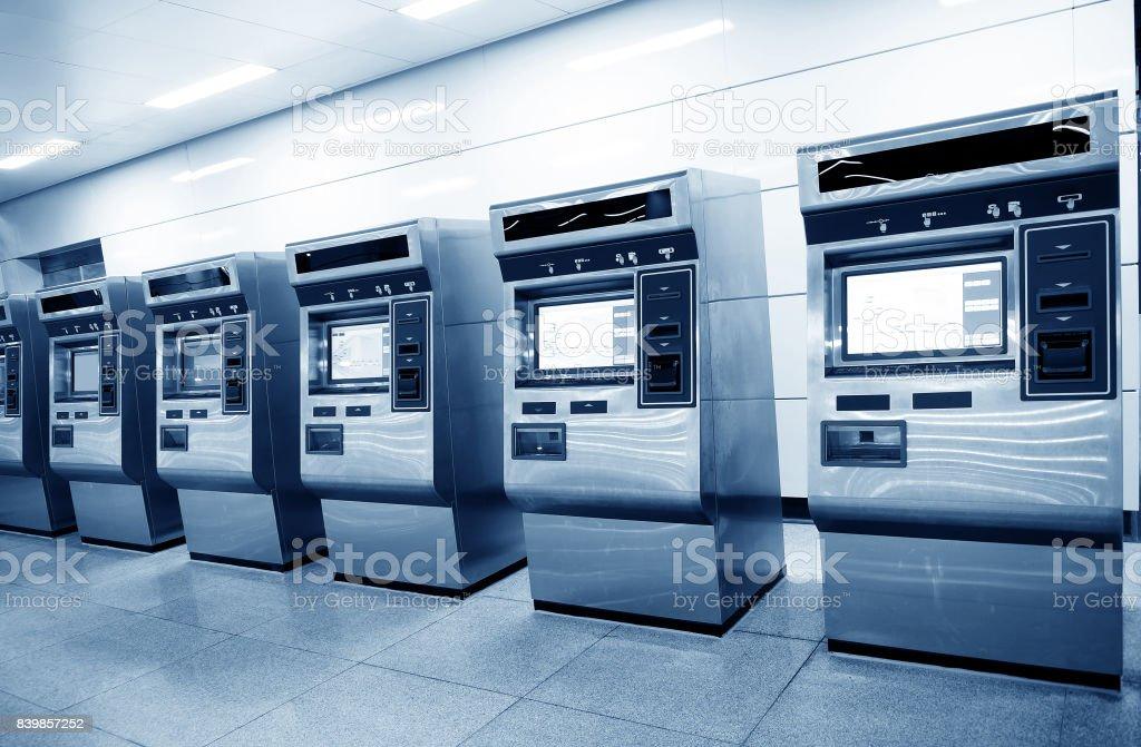 Automatic ticket vending machines stock photo