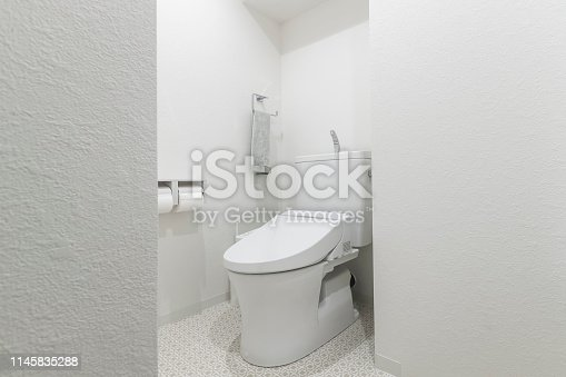 Automatic toilet in the modern toilet