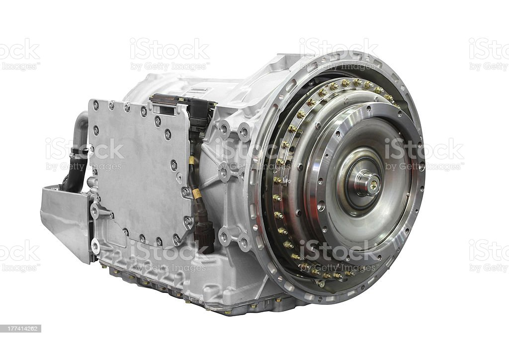 automatic transmission for heavy truck isolated stock photo