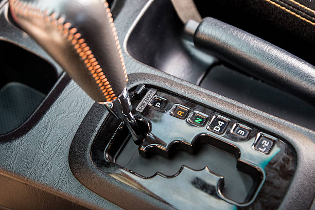 Automatic transmission. stock photo