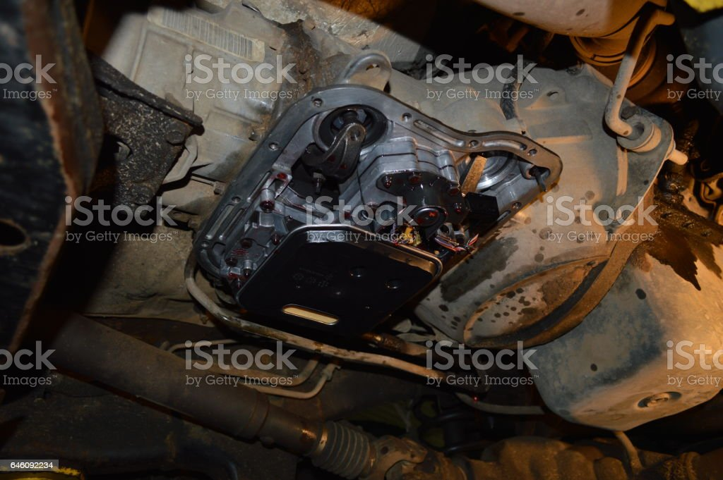Automatic transmission repair stock photo