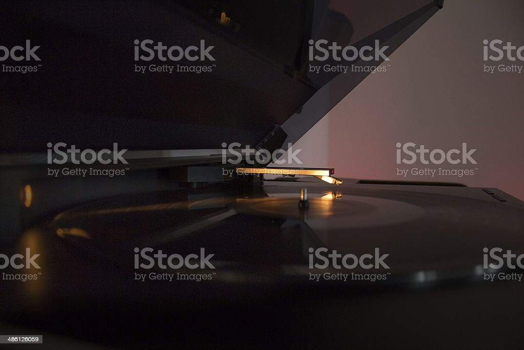 automatic turntable stock photo