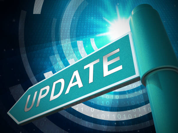 Automatic Update Or Upgrade Process 3d Illustration Automatic Update Or Upgrade Process 3d Illustration Shows Software Improvement Or Modernization To Up-To-Date Version update communication stock pictures, royalty-free photos & images
