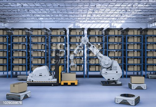istock Automatic warehouse concept 1029035676