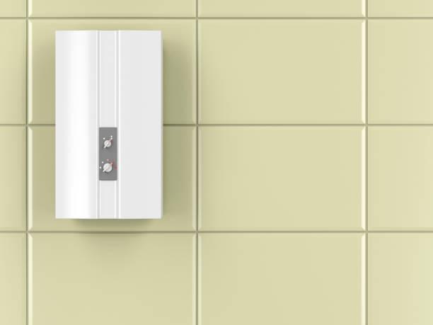 automatische warmwasserbereiter - boiler stock-fotos und bilder