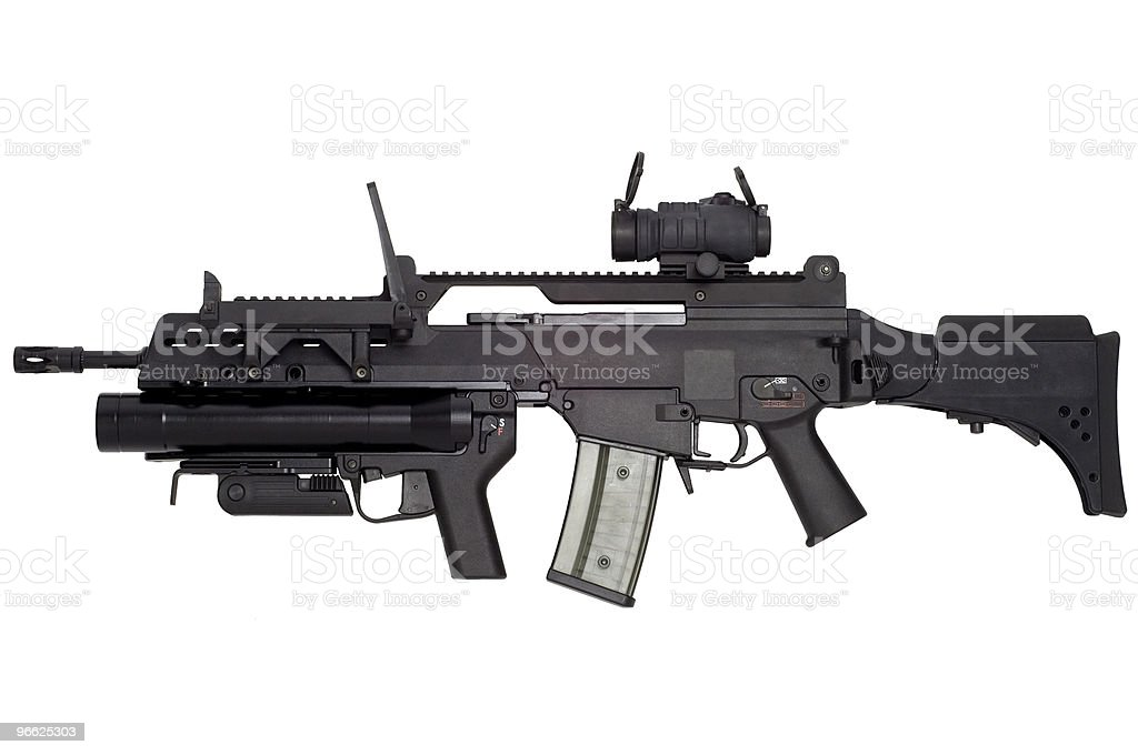 Automatic weapon stock photo
