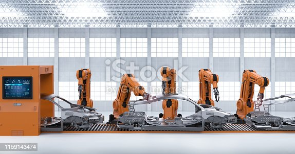 849023956 istock photo Automation aumobile factory concept 1159143474