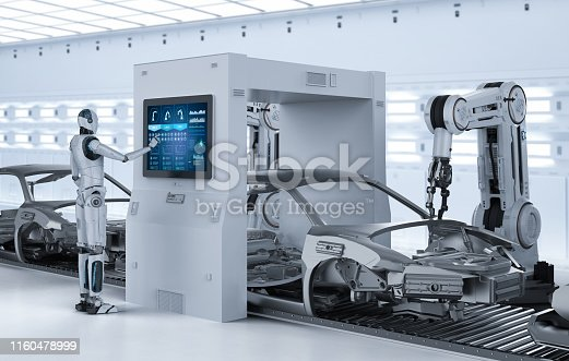 849023956 istock photo Automation aumobile factory concept 1160478999