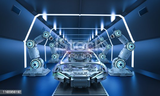 849023956 istock photo Automation aumobile factory concept 1165956192