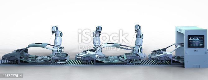 849023956 istock photo Automation aumobile factory concept 1167277514