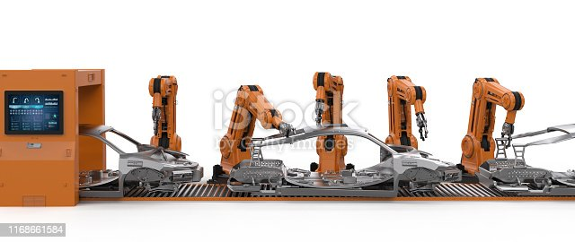 849023956 istock photo Automation aumobile factory concept 1168661584