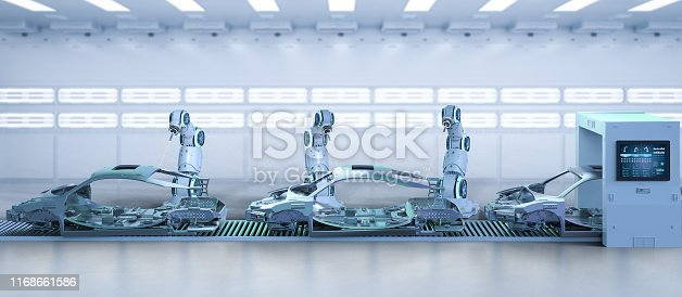 849023956 istock photo Automation aumobile factory concept 1168661586