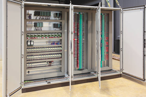 automation barriers panel board - control panel stock photos and pictures