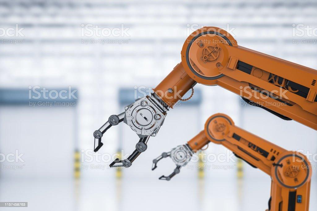 Automatisierungsfabrikkonzept - Lizenzfrei Arm - Anatomiebegriff Stock-Foto