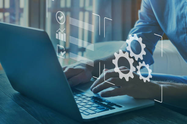 automation, industrial business process workflow optimisation stock photo