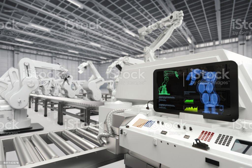 concepto de automatización industrial foto de stock libre de derechos