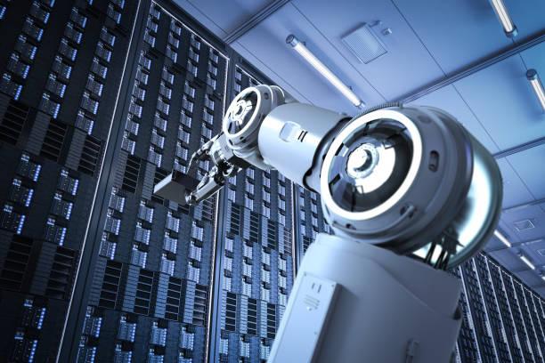 Automation server room stock photo