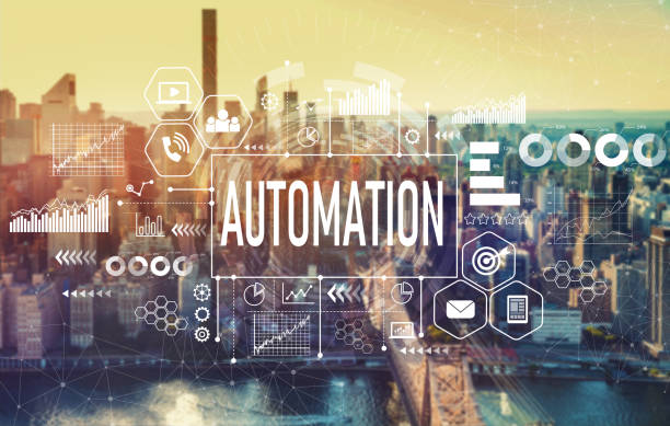 Automation with New York City stock photo
