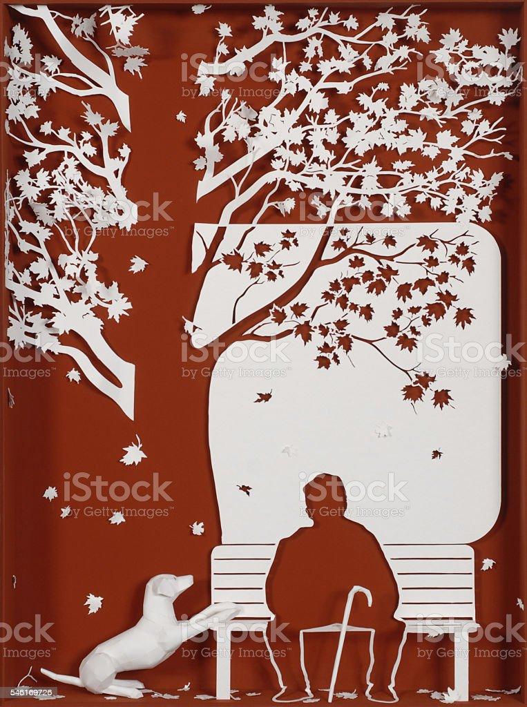 L'automne de la vie stock photo