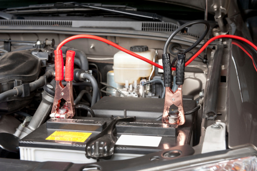 Automobile Battery Charging Stock Photo - Download Image Now