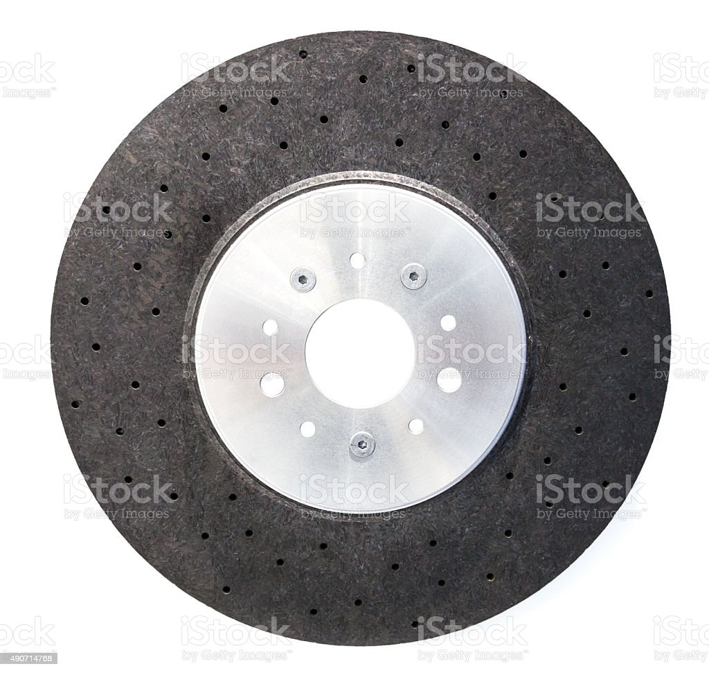 Automobile ceramic composite brake disk stock photo