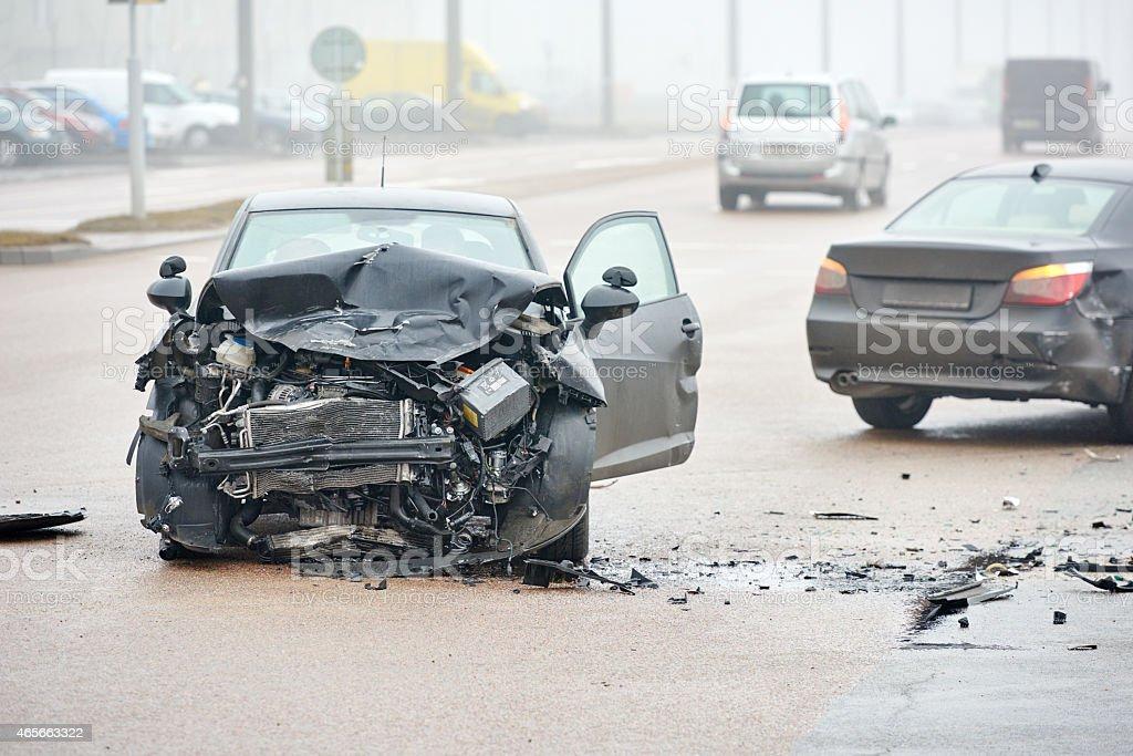 automobile Unfall Kollision in der urban street – Foto