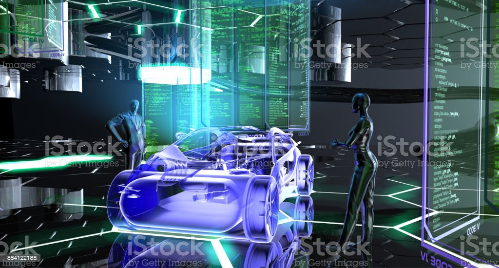 Plataforma de desarrollo automóvil del futuro - foto de stock