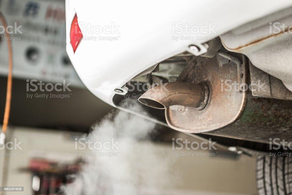 汽車尾氣 免版稅 stock photo