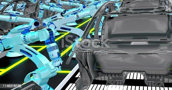 155373435 istock photo Automobile Industry 1146318236