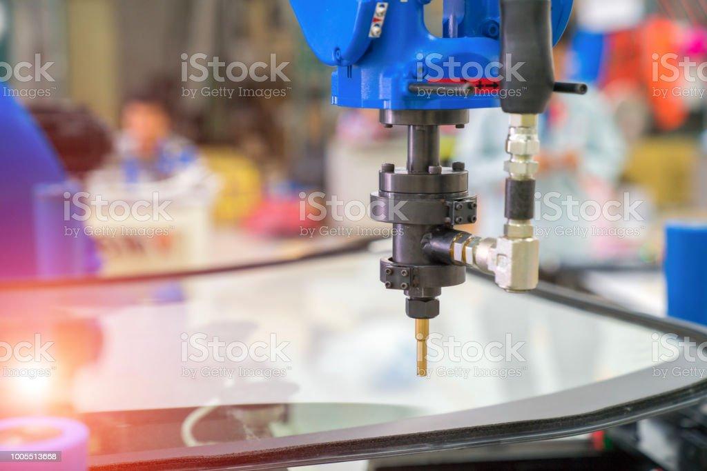 Fabrication automobile, la technologie de revêtement de verre automobile photo libre de droits