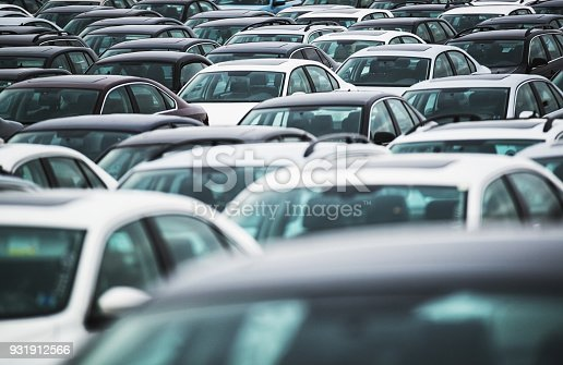 A massive lot of recalled vehicles.