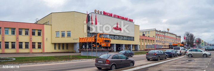 istock Automobile Plant MAZ Headquarters in Belarus 528498778