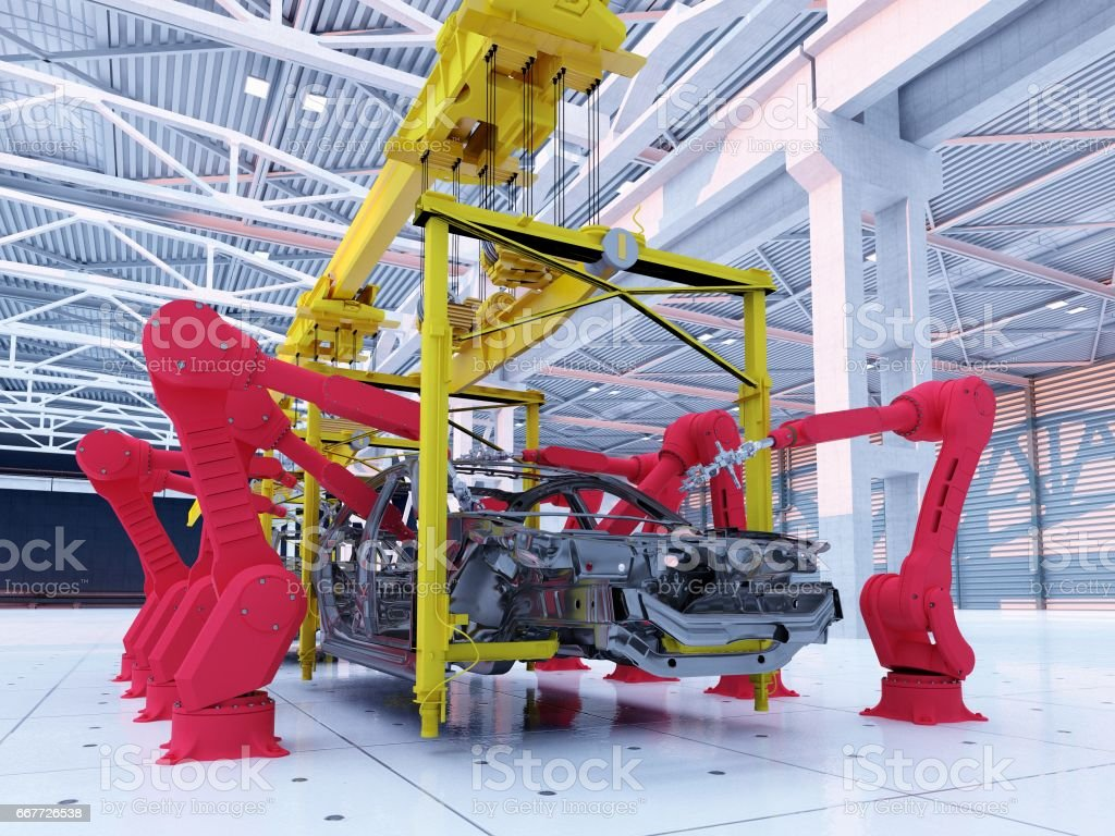 Automobile Plant. stock photo