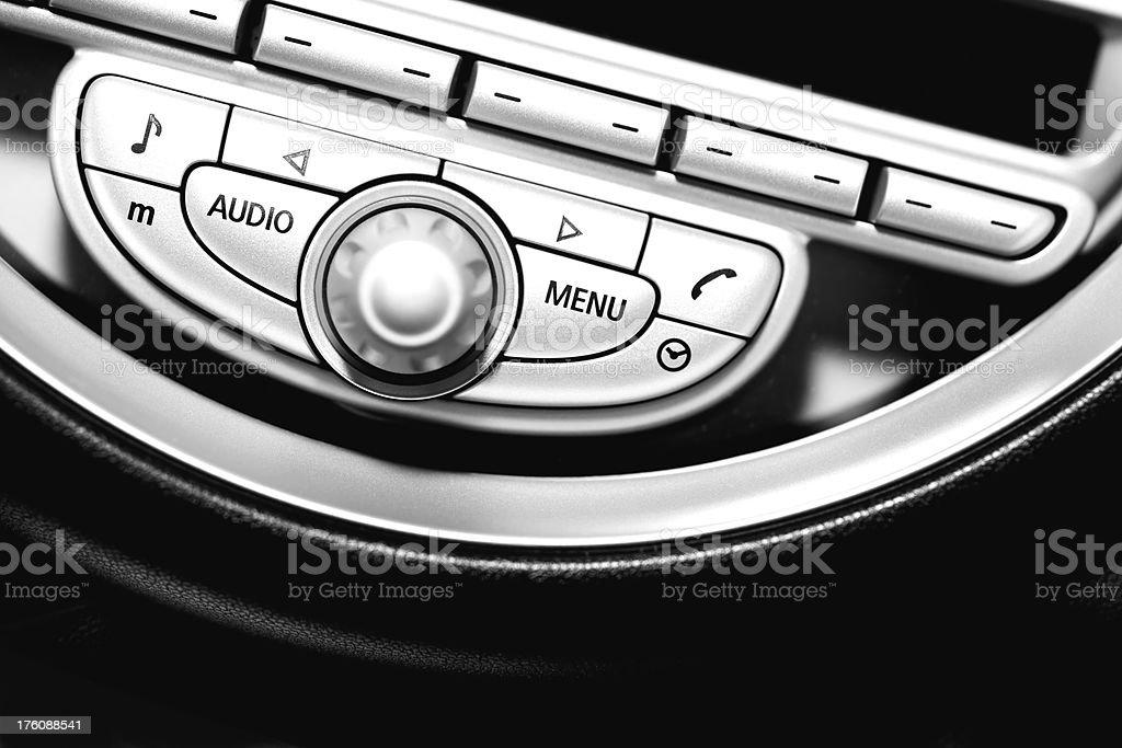Automobile Sound Controls stock photo