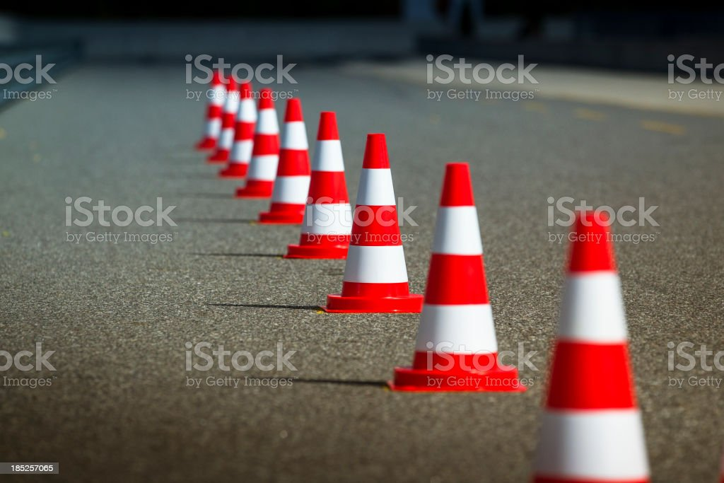 Automobile speed driving test track stock photo